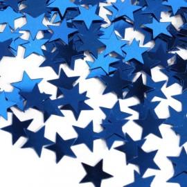 Confettis étoiles bleues Décoration de fête