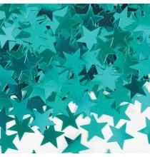 Confettis étoiles bleu-vert Décoration de fête