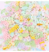 3 Sachets de Confettis Baby Shower Bleu Pastel