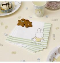 Grandes Serviettes en Papier Bébé Miffy Baby