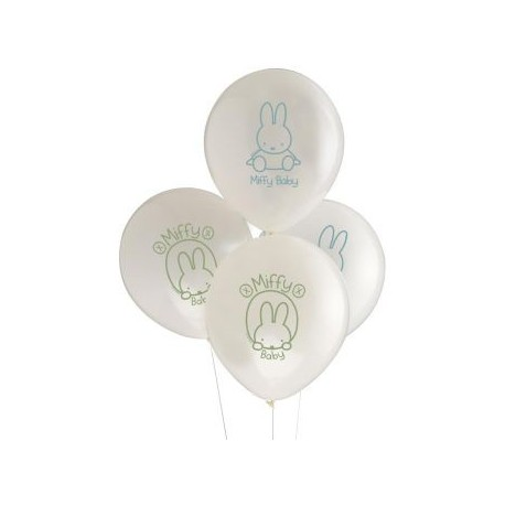 8 Ballons Latex Bébé Miffy