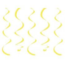 10 Décorations à Suspendre - jaune