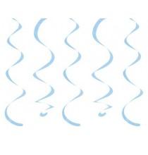 10 Décorations à Suspendre - bleu clair