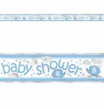 Banderole Baby Shower Petit Eléphant Bleu