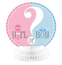 4 Centres de Table en Papier Baby Shower Boy or Girl ?