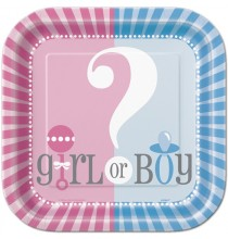 Petites Assiettes en Papier Baby Shower Boy or Girl ?