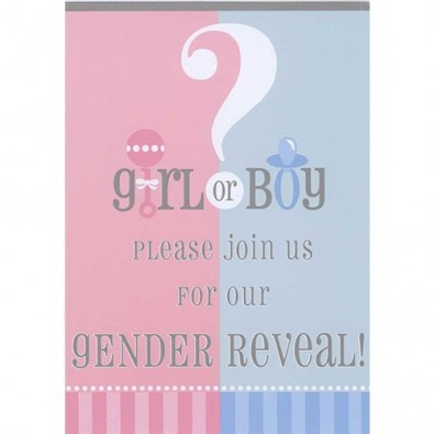 Invitation Gender Reveal Party Boy or Girl?