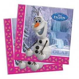 Serviettes en Papier Olaf Reine des Neiges Disney pour Anniversaire et Fête Elsa et Anna