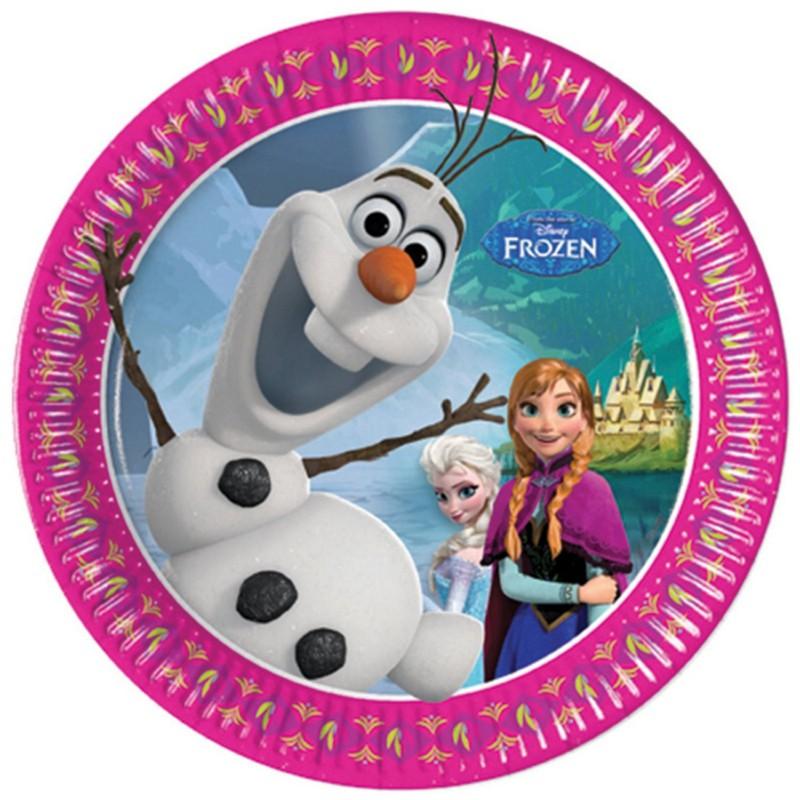 Petites assiettes reine des neiges elsa et anna anniversaire et f te - Anna elsa reine des neiges ...