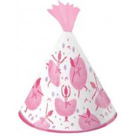 Chapeaux de Fête Anniversaire Ballerine en Tutu Rose