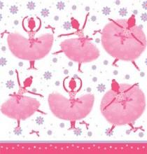 Nappe en Plastique Anniversaire Ballerine en Tutu Rose