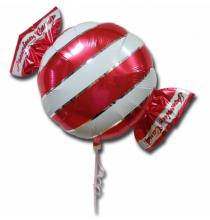 Ballon Géant en forme de Bonbon Rayé Rouge et blanc