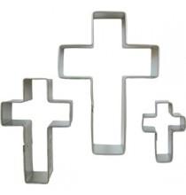3 x Emporte-Pièce Biscuit en Forme de Croix