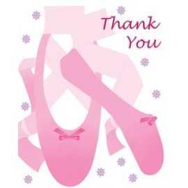 8 Cartes de remerciements Anniversaire Danseuse Etoile Ballerine