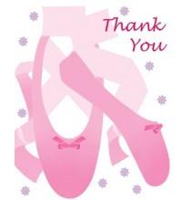 Carte de remerciements Anniversaire Danseuse Etoile Ballerine