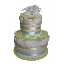 Gâteau de couches pastel mybbshowershop.com
