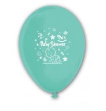 Ballon Baby Shower à l'unité Bleu Vert d'eau