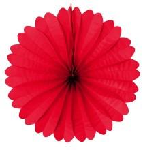 Rosace Eventail Rouge 50cm en Papier