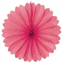 Rosace Eventail Rose Fushia 50cm en Papier