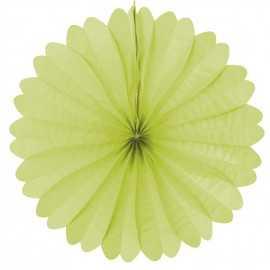 Rosace Eventail Vert anis 50cm en Papier