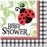 Serviettes en Papier Baby Shower Thème Coccinelle