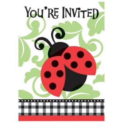 Invitation A Thème Coccinelle