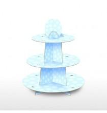 Stand à Cup Cake Bleu Trois Etages