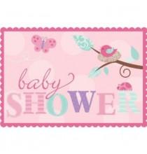 Invitation Baby Shower Petit Oiseau Baby Girl
