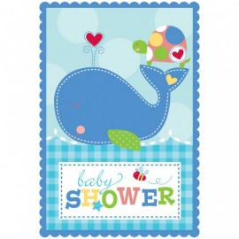 8 Invitations Baby Shower Thème Marin