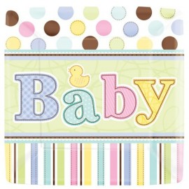 Grandes assiettes Baby Shower Pastel