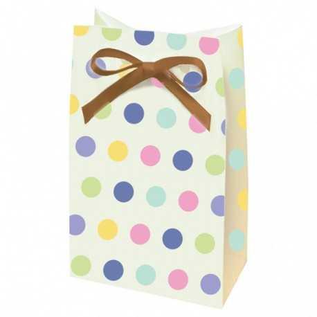12 sachets cadeaux aux invités Pois Baby Shower Pastel