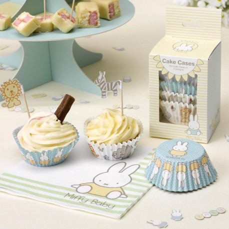 100 Moules à Cup Cakes Baby Miffy