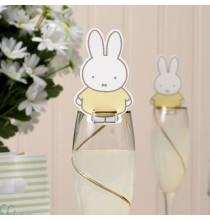 Décorations de verres - porte nom Baby Miffy