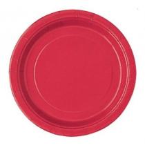Petites Assiettes Papier Rouge