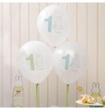 8 Ballons Latex Baby Miffy Premier Anniversaire