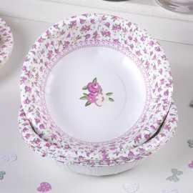 Assiettes de Présentation Bol Liberty Rose et Vert à fleurs