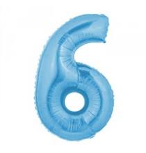 Ballon Géant Alu Bleu Clair 6 Ans Fête d'Anniversaire