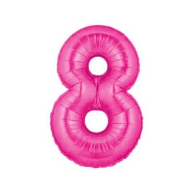 ballon géant chiffre 8 huit rose pour fêter un anniversaire
