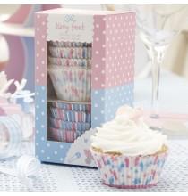 Moules à Cup cakes Petis Pieds Rose et Bleu