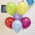 Ballons Latex Keep Calm and Party On Assortis