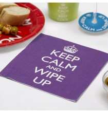 Serviettes en Papier Keep Calm and Wipe Up