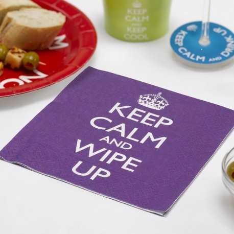 Serviettes en Papier Keep Calm and Wipe Up
