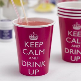 Verres gobelets jetables Keep Calm and Drink Up Anniversaire