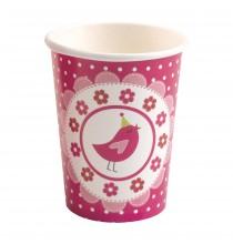 Verres à Thème A Little Bird Rose Fushia