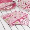 Serviettes en papier à Thème A Little Bird Rose Fushia