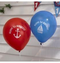 Ballons Premier Anniversaire Happy First Birthday Thème Petit Bateau