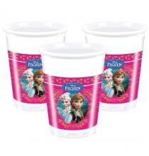 8 Verres Gobelets Reine des Neiges Disney pour Anniversaire et Fête Elsa et Anna