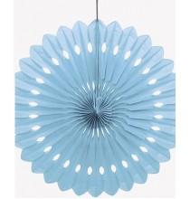 Rosace Eventail Bleu Clair 40 cm Papier de Riz