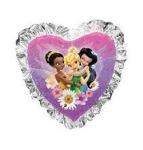 Ballon XXL Coeur avec Fée Clochette Disney fairies