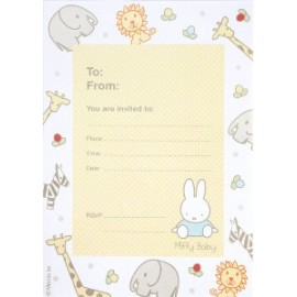 Invitation Baby Miffy